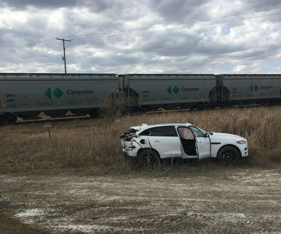 Train-car collision reported outside of Silton