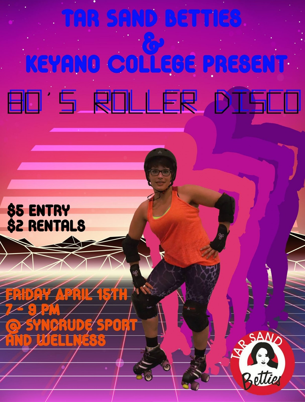 Tar Sand Betties host Roller Disco Friday