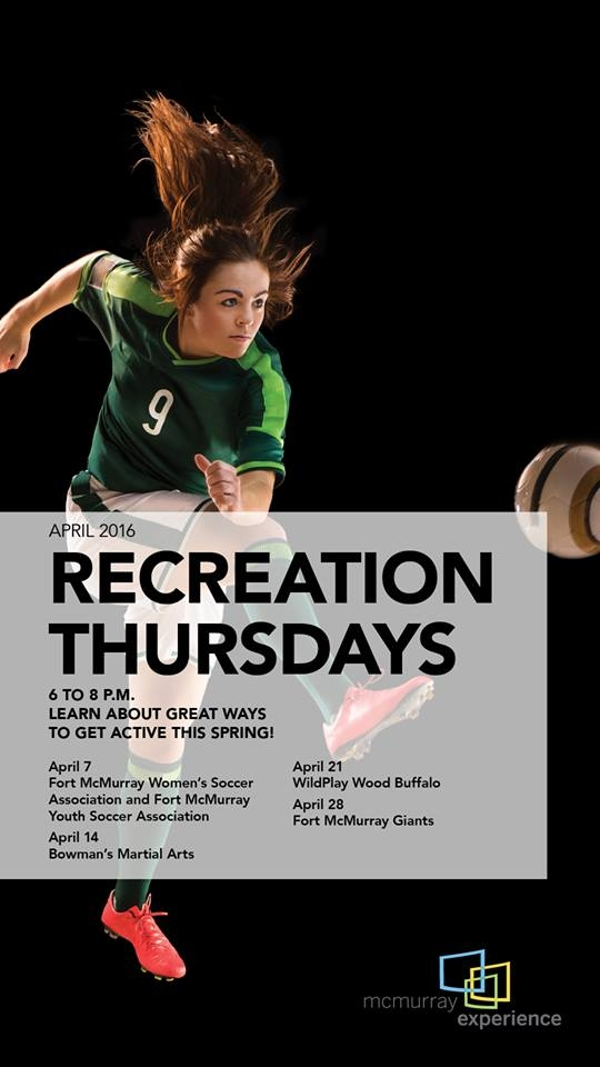 McMurray Experience hosting Recreation Month