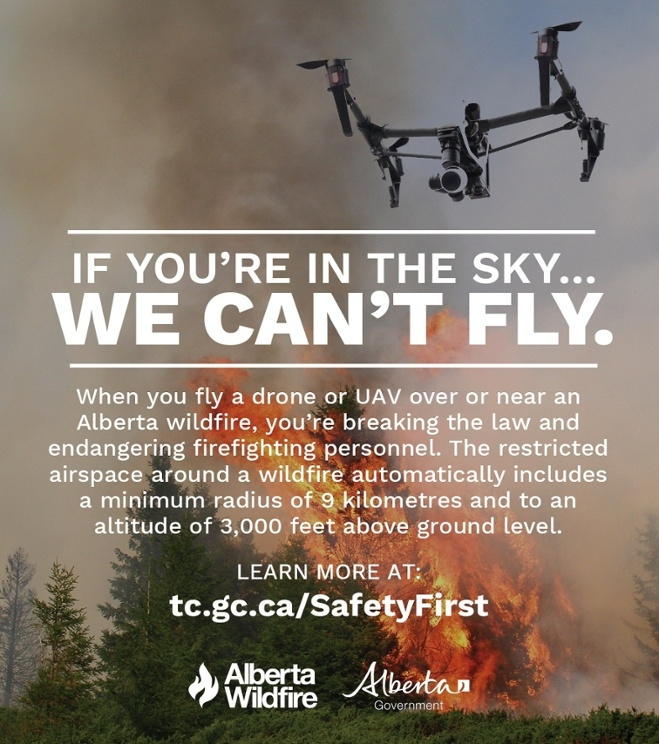 Don't fly unauthorized drones near wildfire: AAF