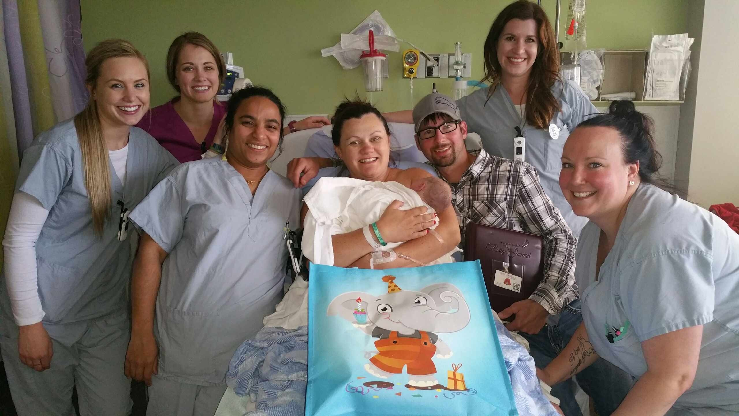 It's a boy! First baby born at NLRHC since evacuation
