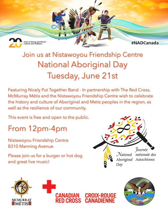 Nistawoyou Association Friendship Centre to host Aboriginal Day activities
