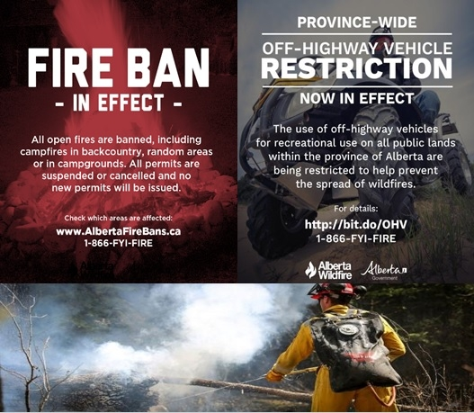 UPDATE: Two new fires under control: Alberta Wildfire