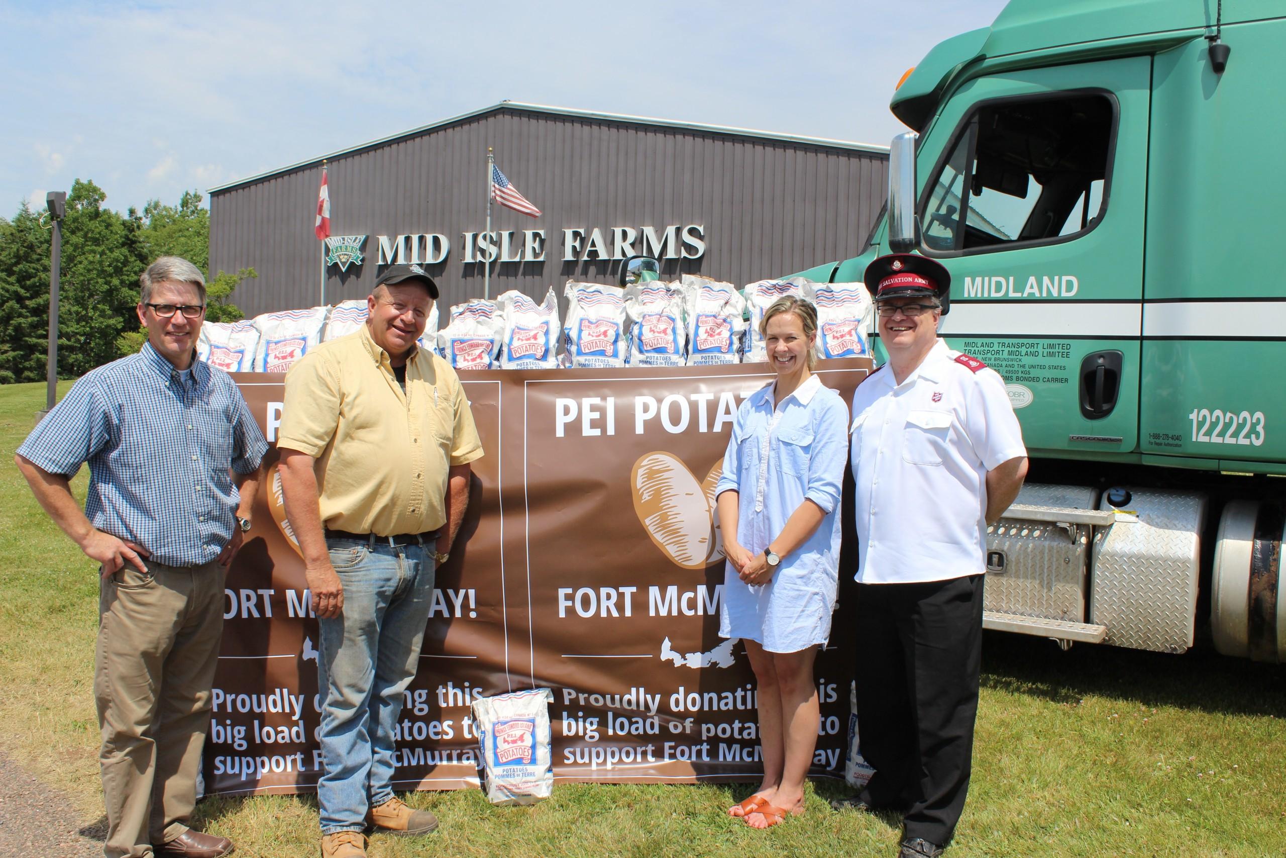 Spuds away! PEI farmers sending $30K worth of potatoes to Fort McMurray