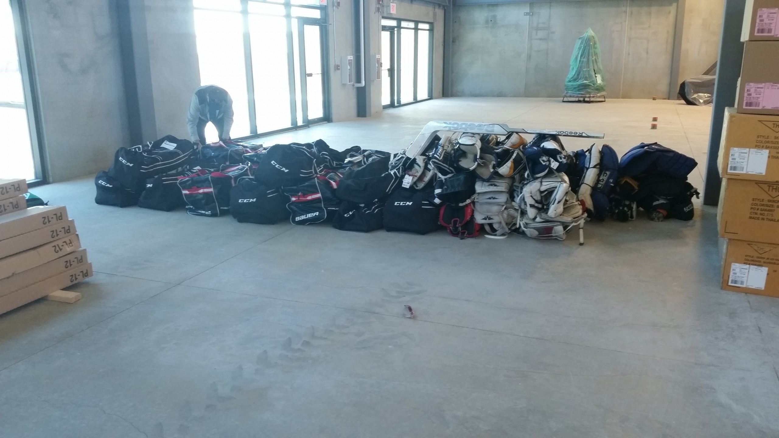 $500,000 worth of sports equipment arrives in Fort McMurray
