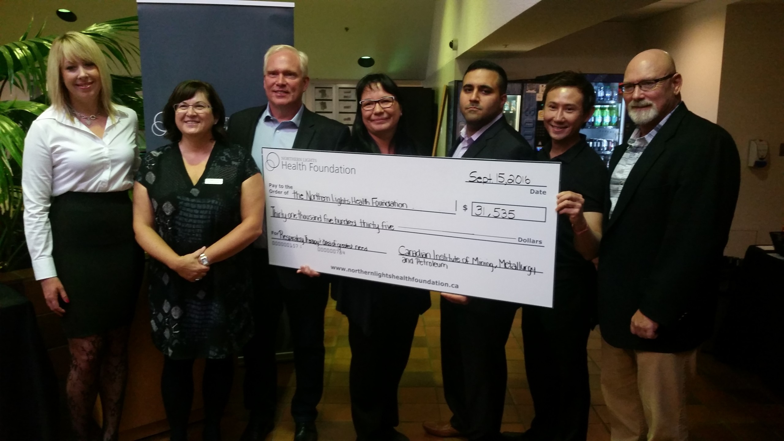 Northern Lights Regional Health Centre receives donation for new bronchoscope
