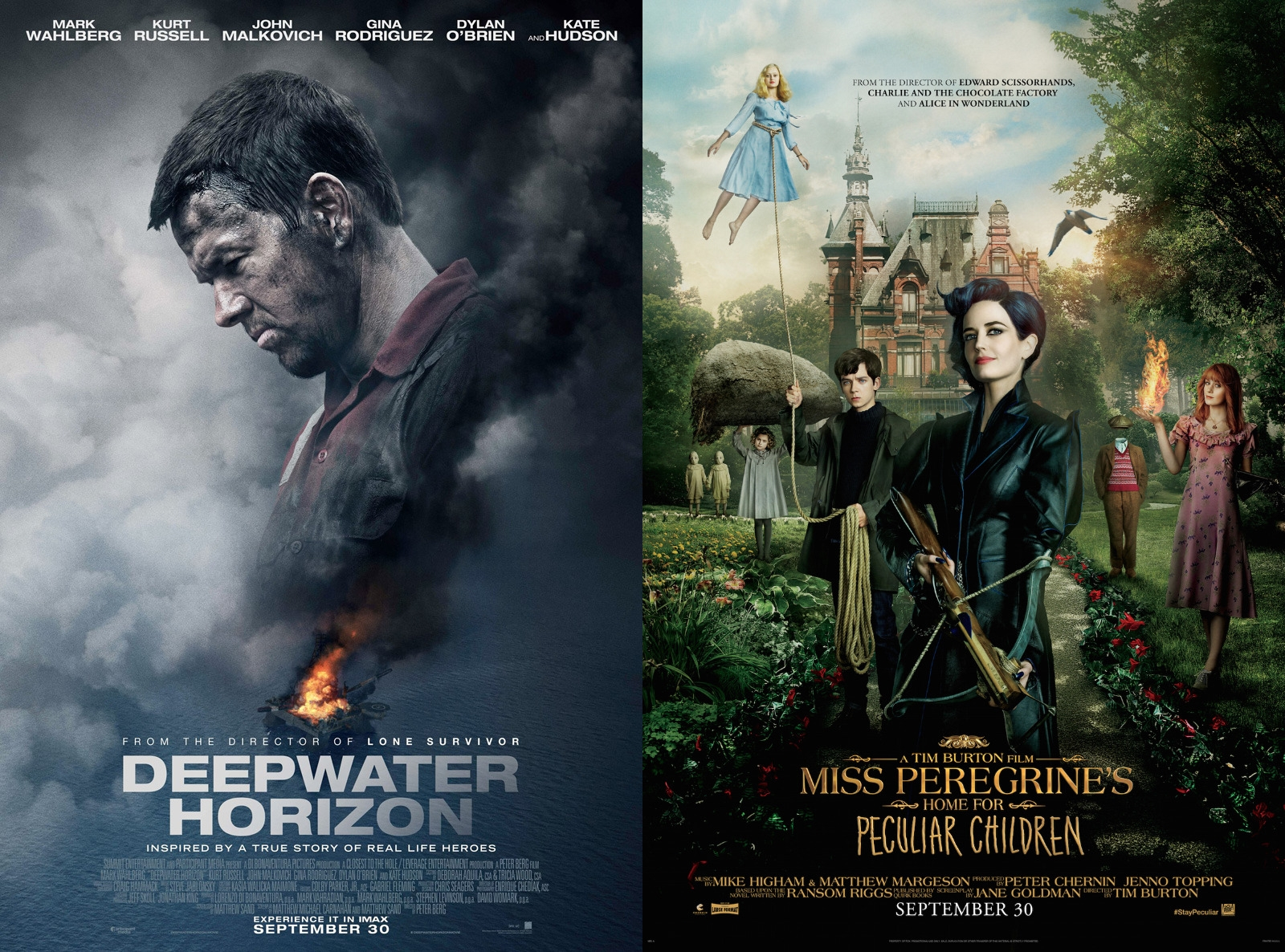 TRAILERS: Miss Peregrine's and Deepwater Horizon