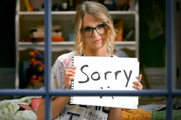 Taylor Swift finally says Sorry