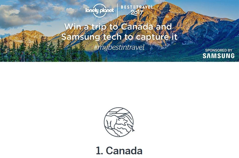 Woo! Canada's #1