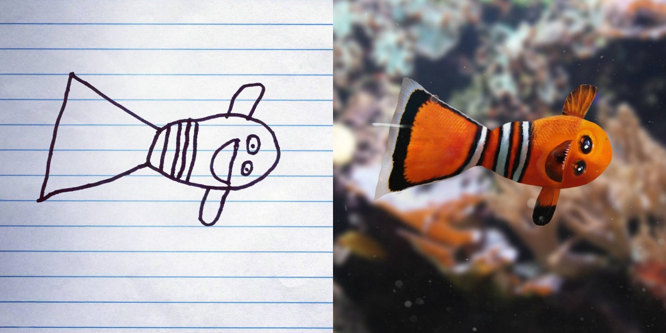 6yr Old's Drawings Made Hilariously Real