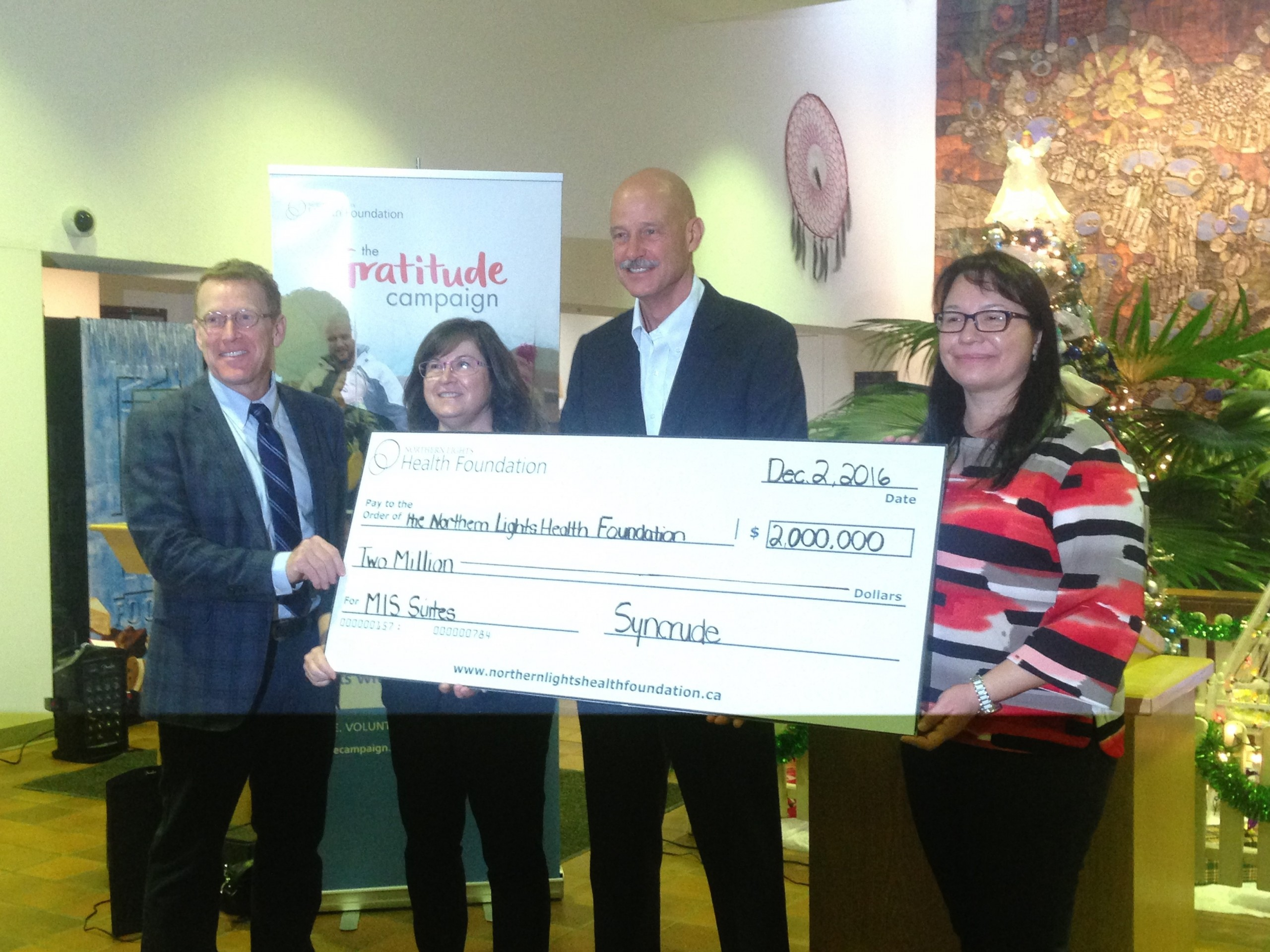 Syncrude Donates $2 Million For New Surgical Suites at NLRHC