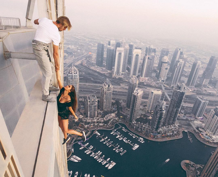 VID: Russian Model Dangles in Dubai