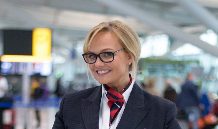 Baby Spice AKA British Airways Agent for Red Nose Day