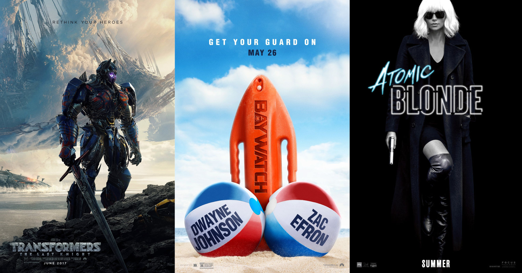 Trailer-Watchin' Wednesday - Baywatch, Transformers: TLK, Atomic Blonde