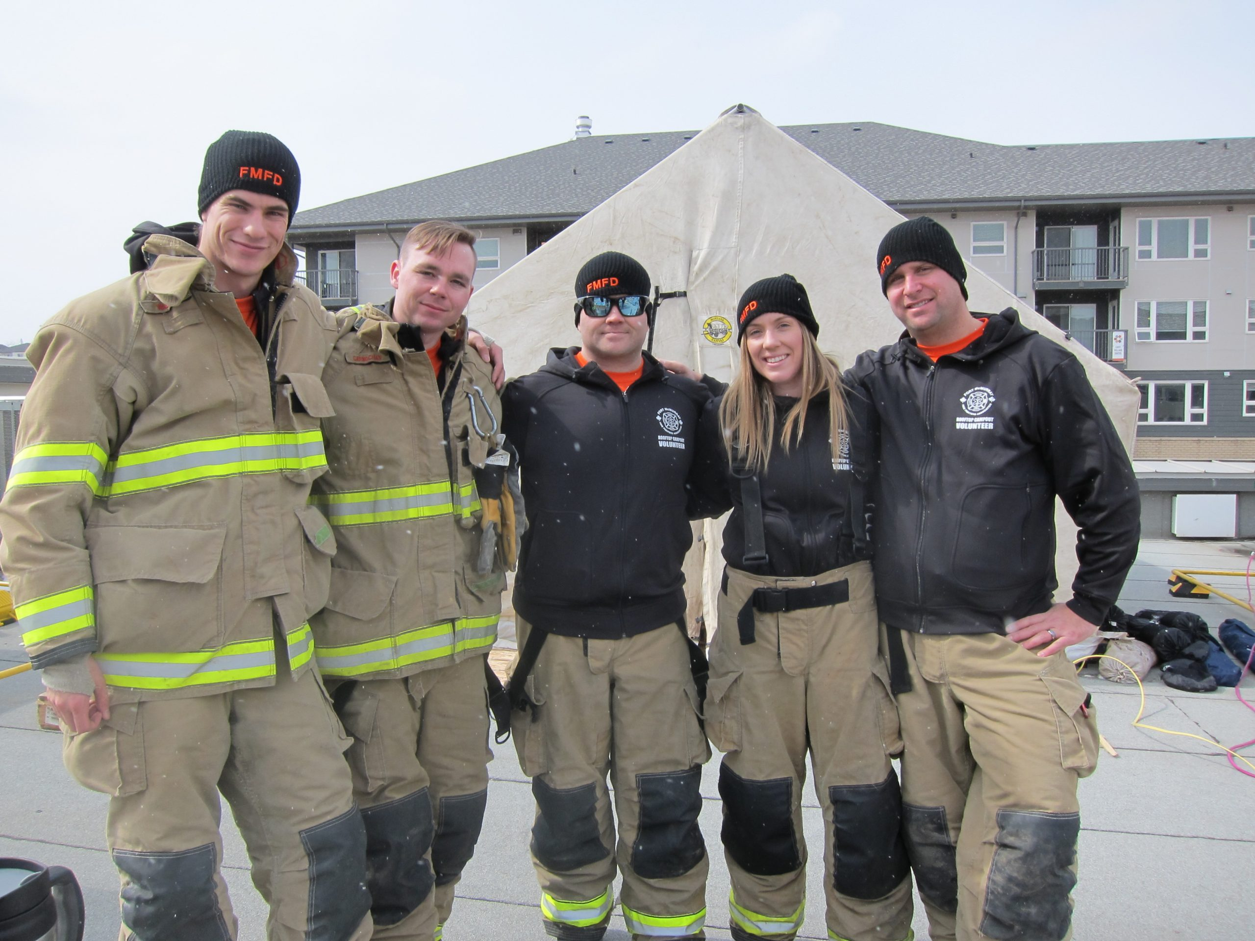 Firefighters Begin 100 Hour Rooftop Campout