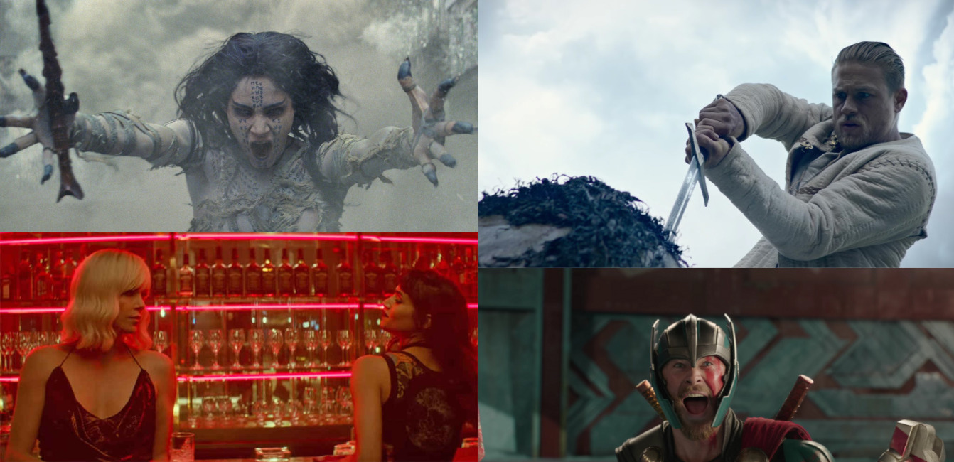 Trailer-Watchin' Wednesday: King Arthur, The Mummy, Atomic Blonde, and THOR!