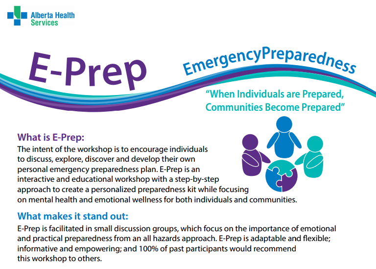 Alberta Health Services Offering E-Prep Workshops