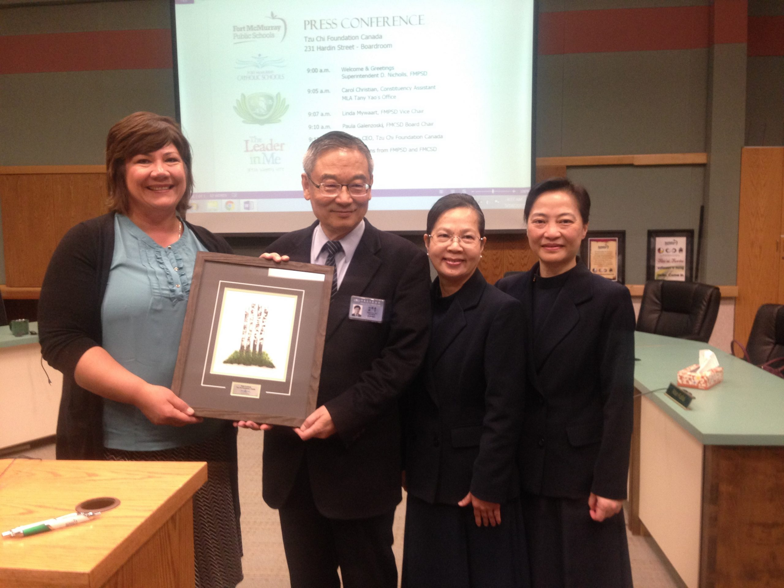 School Districts Thank Tzu Chi Canada For Over $700,000 Donation