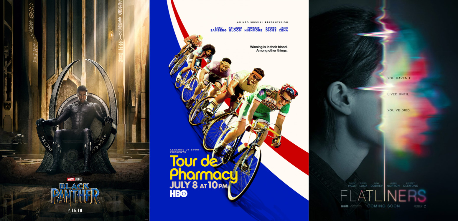 Trailer-Watchin' Wednesday - Black Panther, Flatliners, Tour de Pharmacy