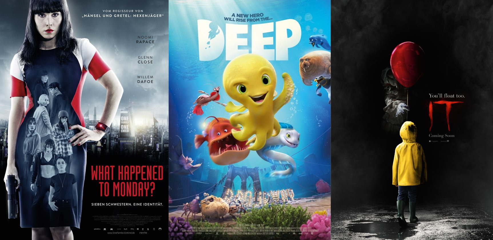Trailer-Watchin' Wednesday: IT, Deep, What Happened to Monday?