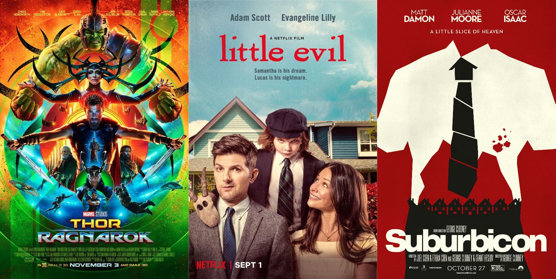 Trailer-Watchin' Wednesday: Thor 3, Suburbicon, Little Evil