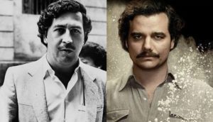 Left: The Real Pablo Escobar Right: The actor who plays him