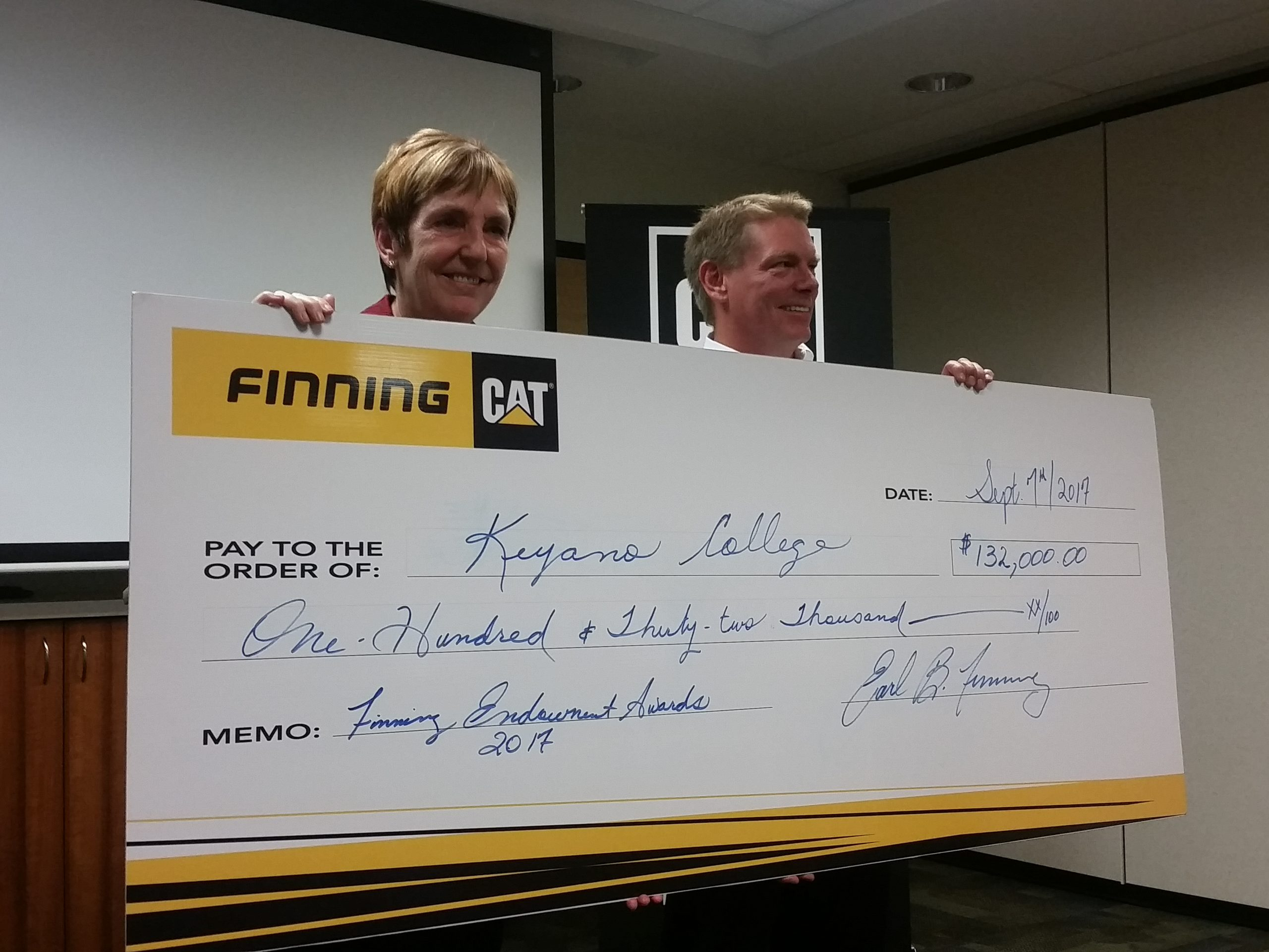 Keyano College Receives $100K Donation From Finning Canada