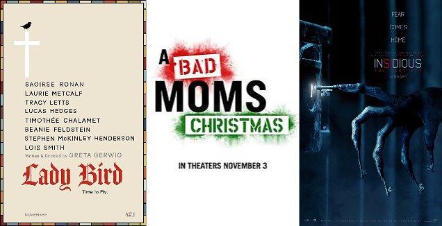 Trailer-Watchin' Wednesday: Bad Moms Christmas, Lady Bird, Insidious 4