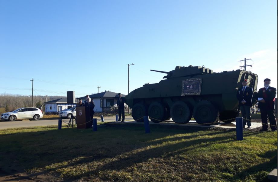 Royal Canadian Legion Branch 165 Marks Arrival Of Lav III Monument