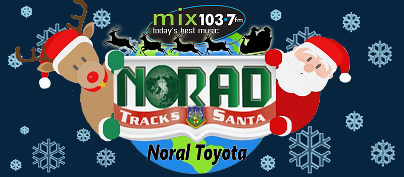 Mix 103.7 Santa Tracker presented by Noral Toyota!