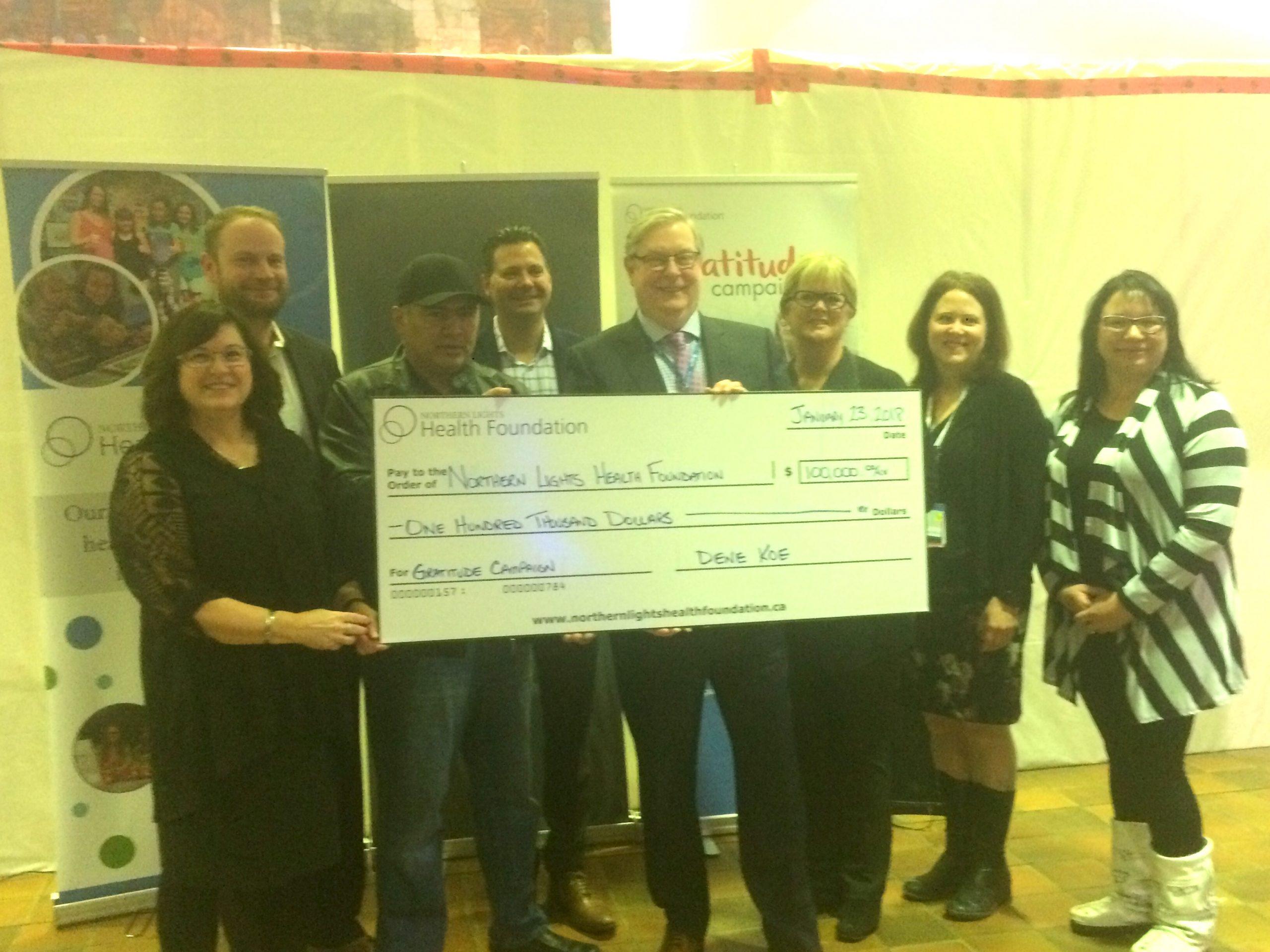 Dene Koe Donates $100k To Health Foundation's Gratitude Campaign