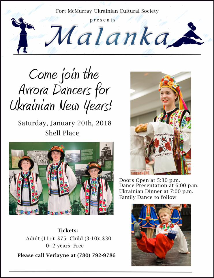Celebrate Ukranian New Year With Fort McMurray Ukranian Cultural Society