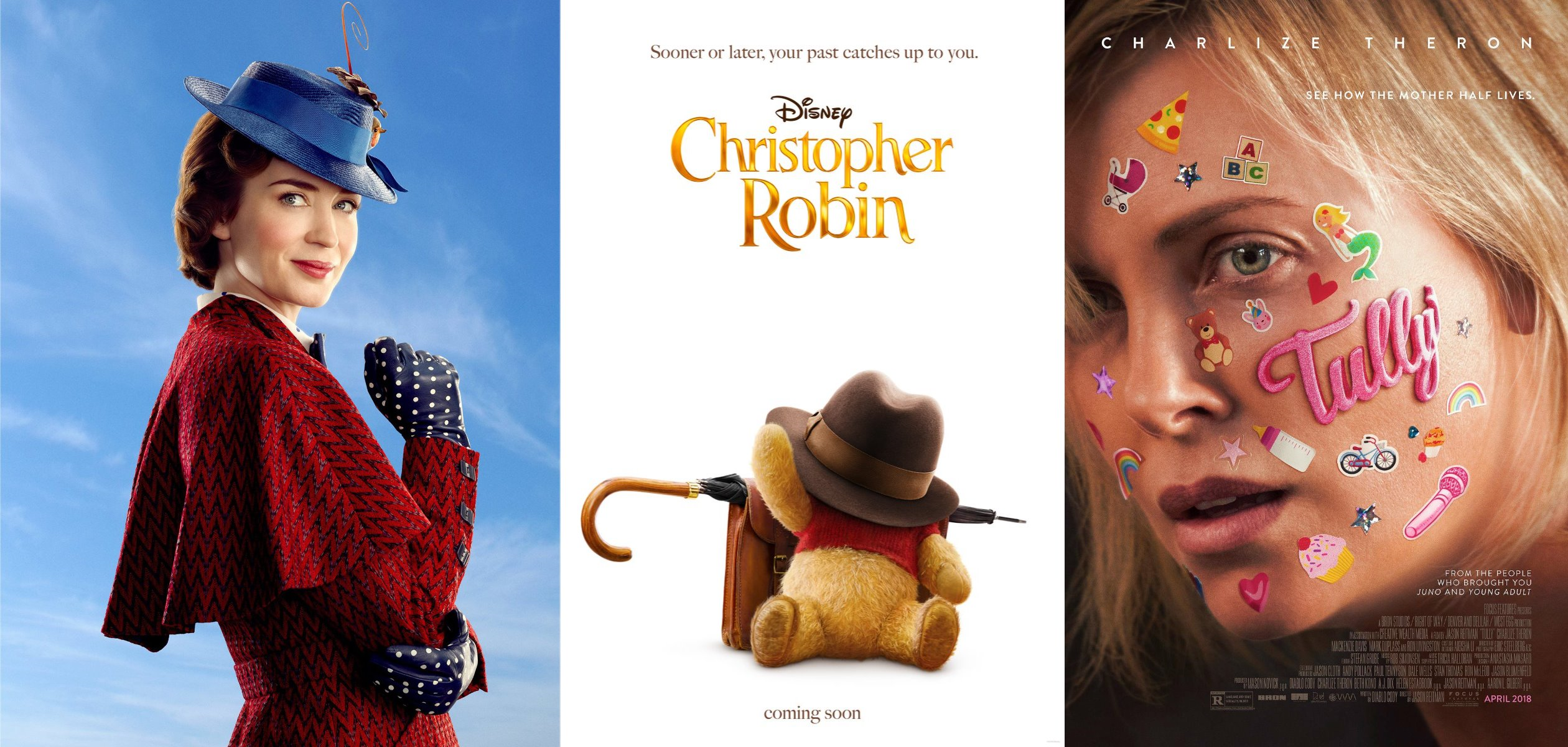 Trailer-Watchin' Wednesday: Mary Poppins Returns, Christopher Robin, Tully