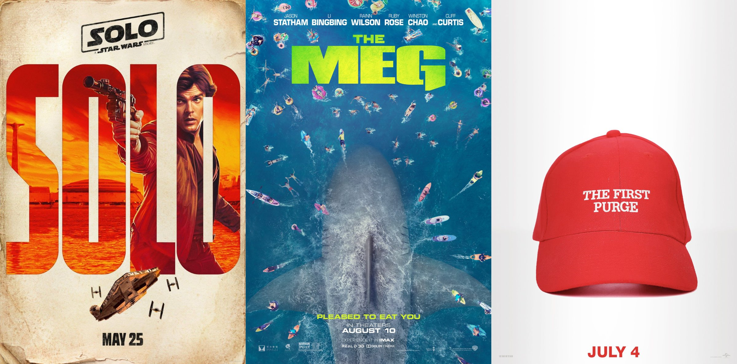 Trailer-Watchin' Wednesday: Solo, The First Purge, and The Meg