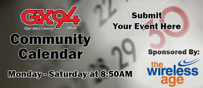 Feature: http://www.gx94radio.com/community-calendar/