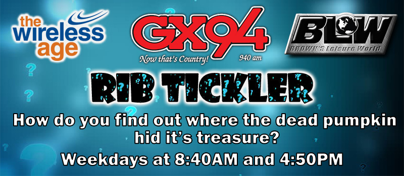 Feature: http://www.gx94radio.com/2017/02/02/gx94s-rib-tickler/