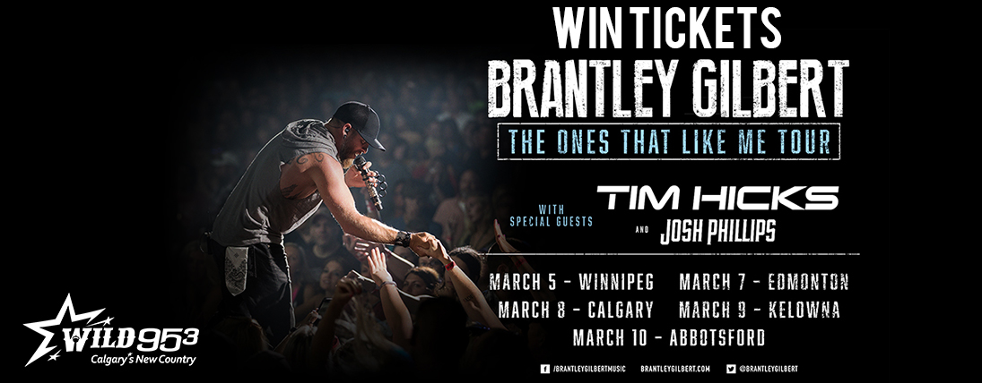 Win tickets to Brantley Gilbert – The Ones That Like Me