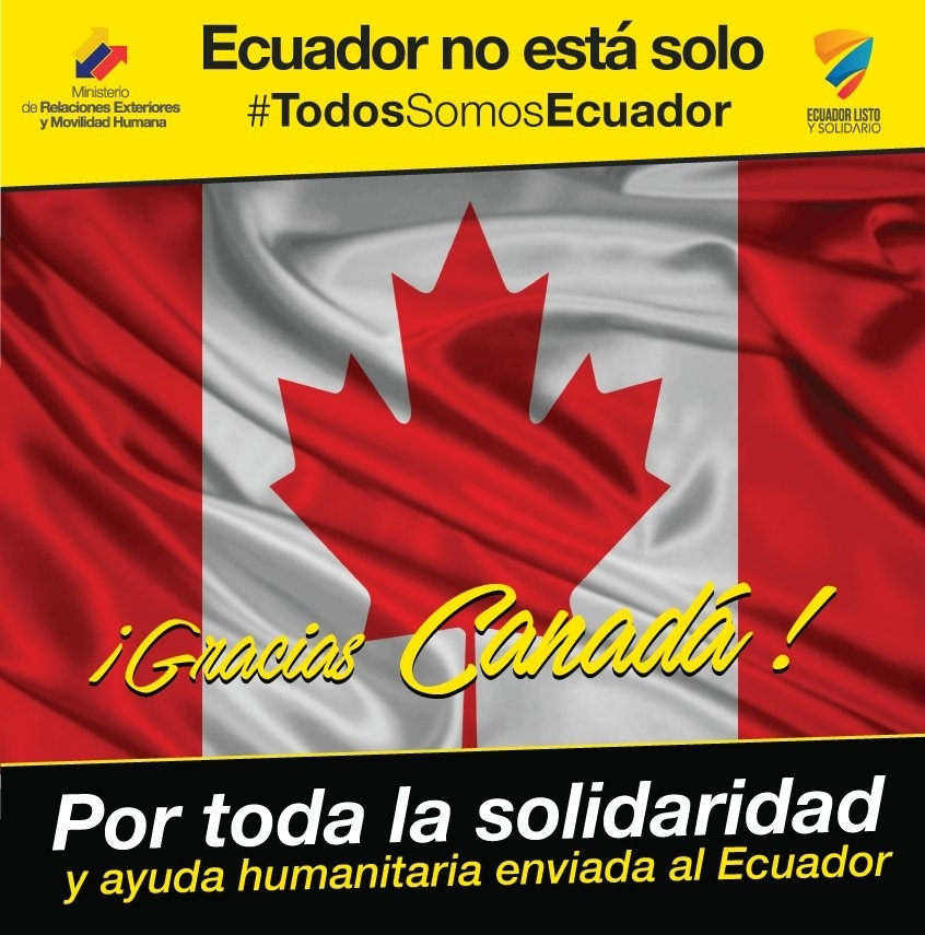 Ontario se solidariza con Ecuador