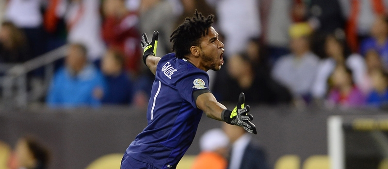 Peru goalkeeper Pedro Gallese began his Man of the Match performance. Credit ISI Mexsports