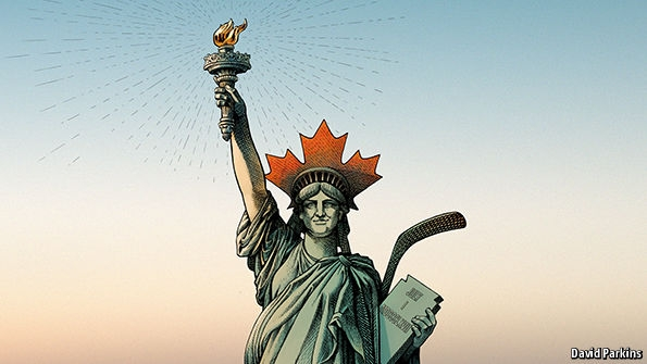 Canada's example to the world. Liberty moves north
