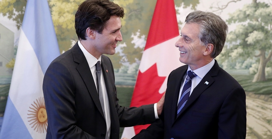 Macri y Trudeau quieren que Argentina y Canadá estrechen lazos