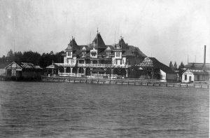 El hotel Hanlan, en las Islas de Toronto, hacia el año 1890. Foto: City of Toronto Archives / Public Domain