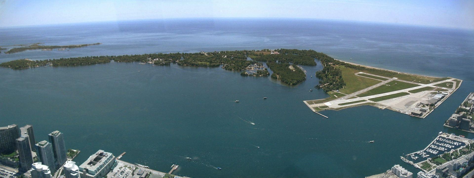 Las Islas de Toronto, vistas desde la Torre CN. Foto: Wikimedia Commons