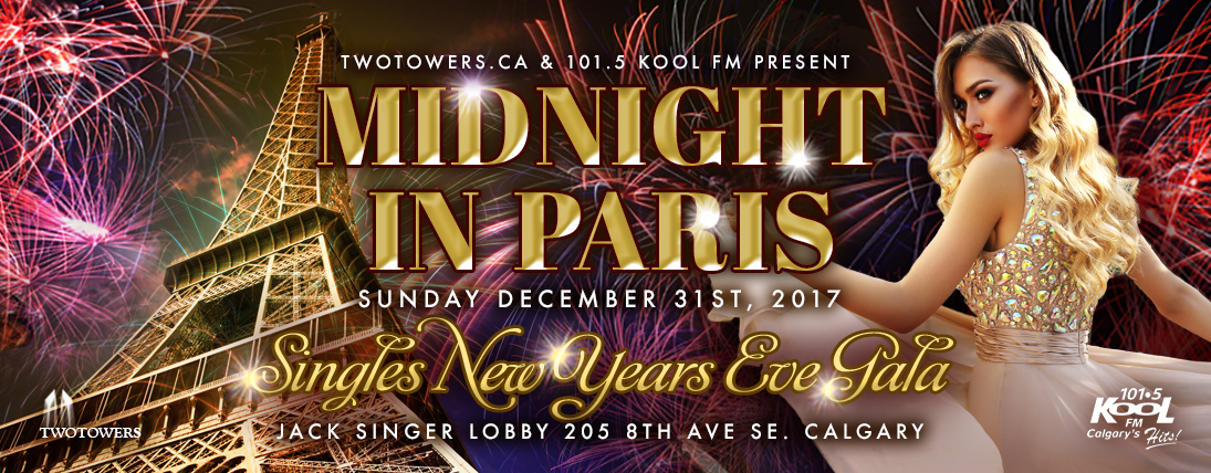 MIDNIGHT IN PARIS, THE SINGLES NEW YEARS EVE GALA