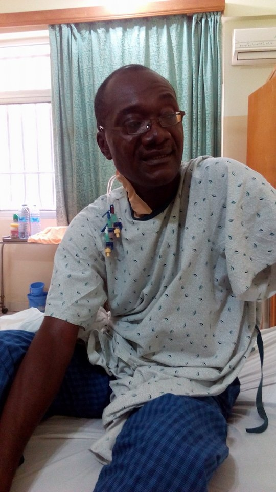 See Photos of Jagger Pee at Korle-Bu, He undergoes a Heart Surgery