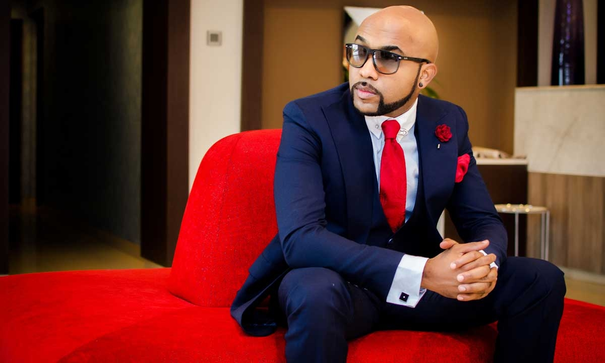 Banky W spotted at popular Lagos club with 'mystery' ladies