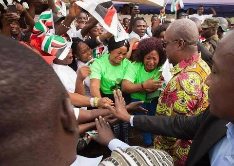 Tears flow as Mahama cuts sod for Eastern University