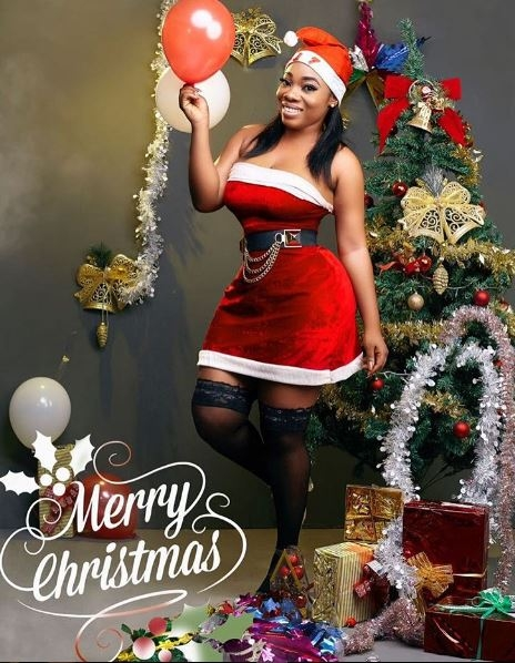 Moesha Boduong is the hottest Santa Claus This Christmas