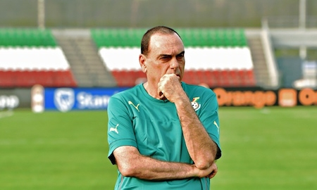 Ghana's coach Avram Grant will be working for his hefty salary in Gabon