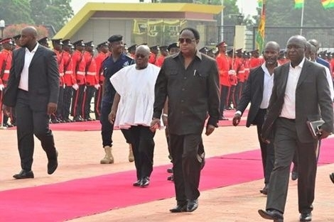 PHOTOS: Akufo-Addo's first day at work at the Presidential Palace